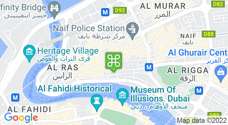 Map showing location of Al Sabkha Bus Station