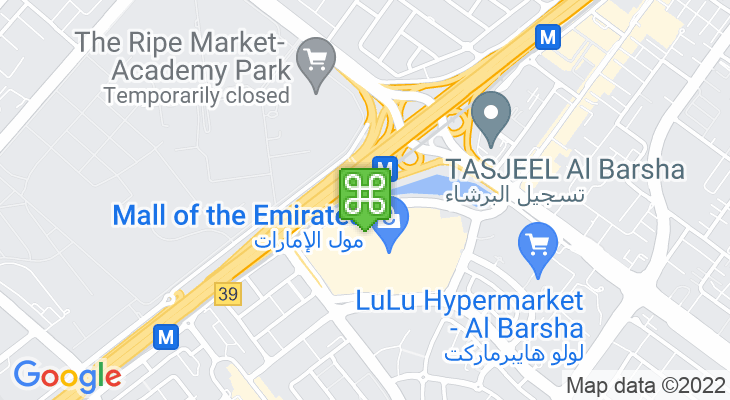 Map showing location of Mall of the Emirates Bus Station