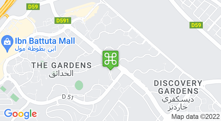 Map showing location of The Gardens Metro Station
