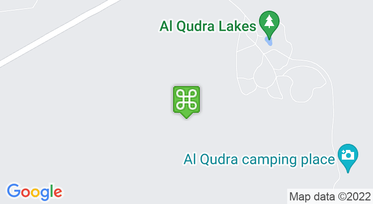 Map showing location of Al Qudra Lakes