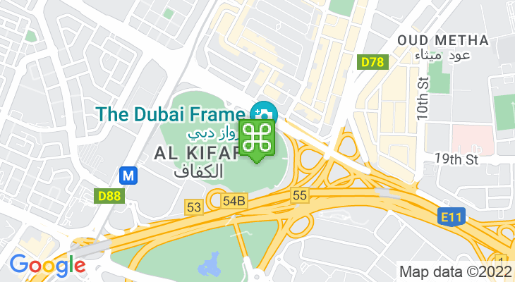 Map showing location of Dubai Frame
