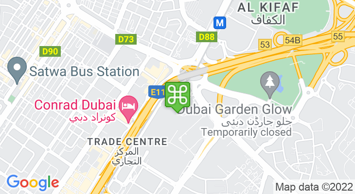 Map showing location of Dubai World Trade Centre
