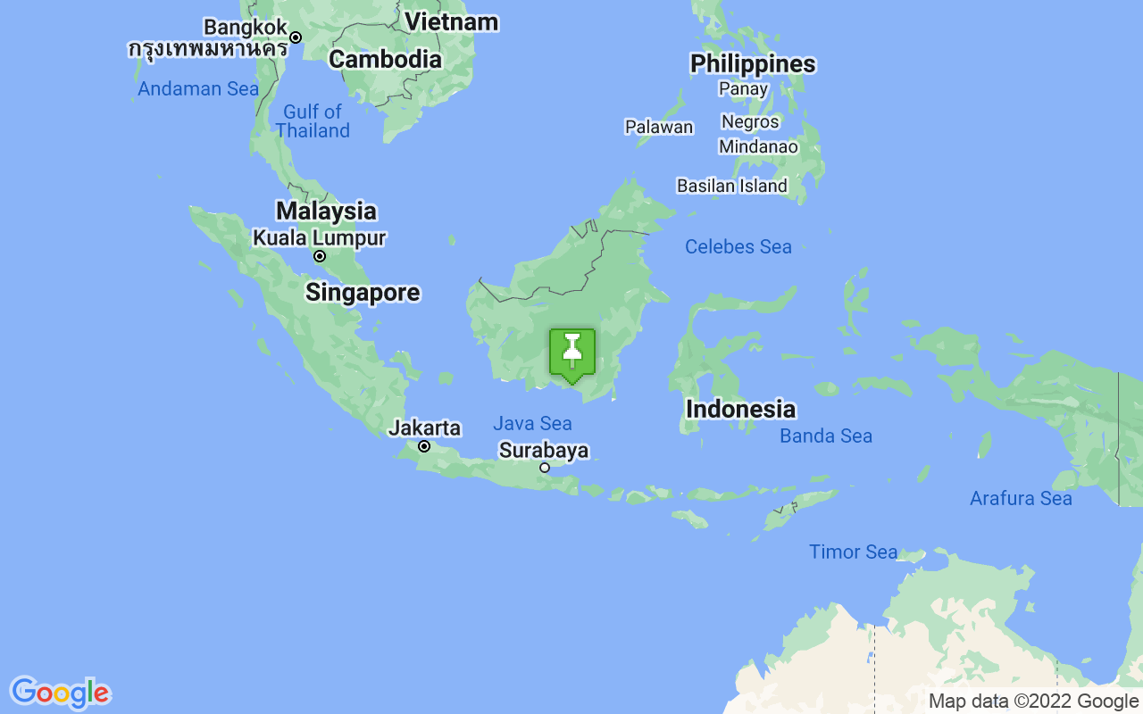 Map showing location of Indonesia