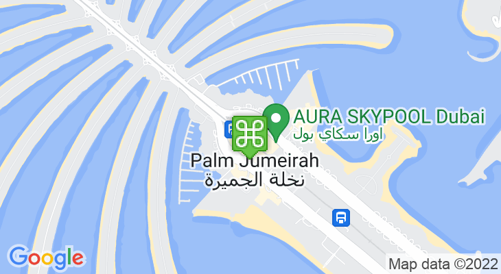 Map showing location of Nakheel Mall