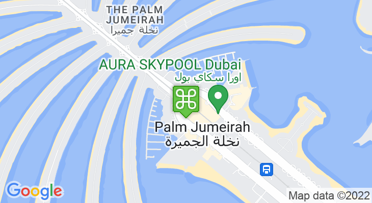 Map showing location of Palm Jumeirah Monorail – Nakheel Mall Station