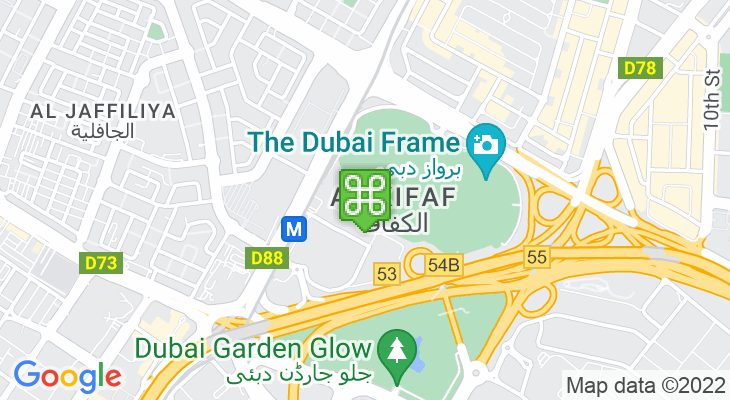 Map showing location of Zabeel Park