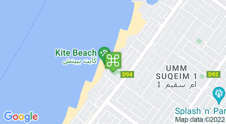 Map showing location of Kite Beach