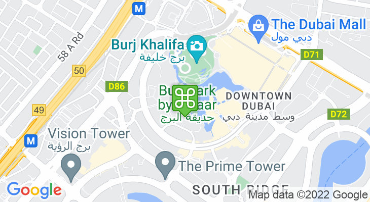 Map showing location of Burj Park