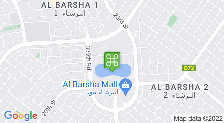 Map showing location of Al Barsha Pond Park