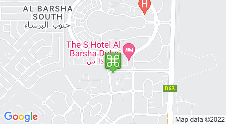 Map showing location of My City Centre Al Barsha
