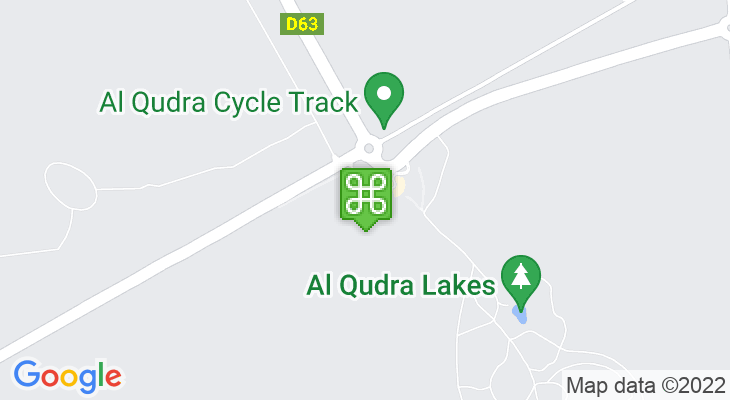 Map showing location of Al Qudra Cycle Track