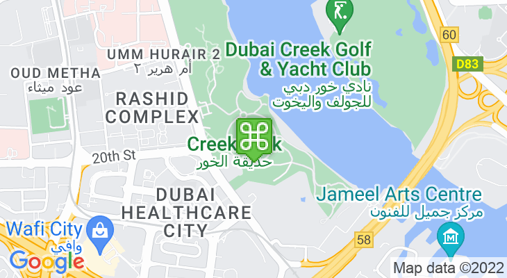 Map showing location of Dubai Children's City