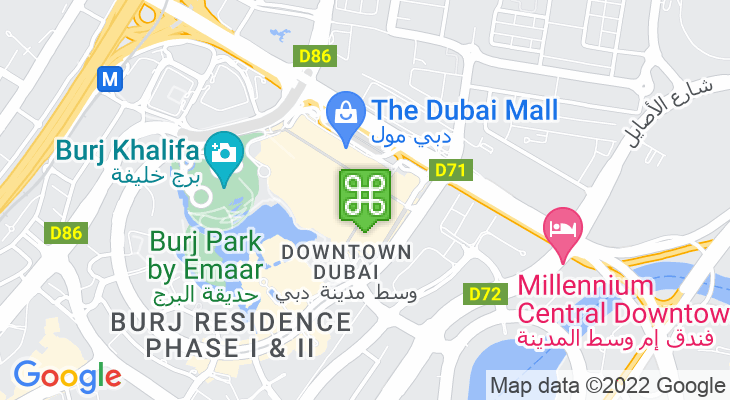 Map showing location of Dubai Ice Rink