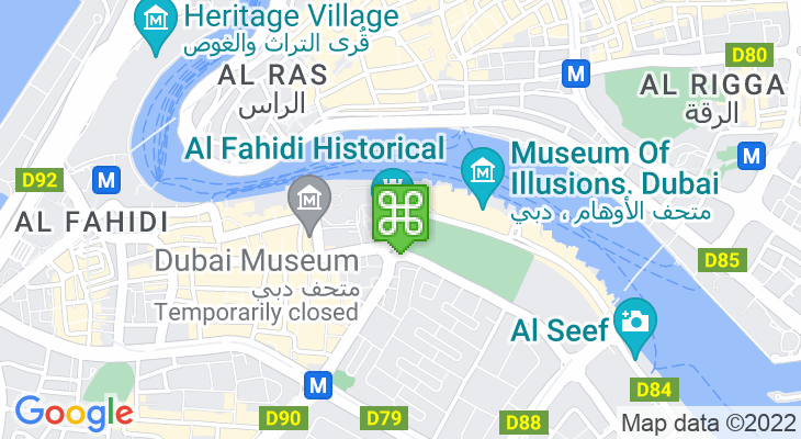 Map showing location of Sheikh Mohammed Centre for Cultural Understanding
