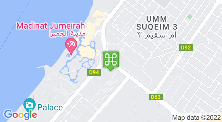 Map showing location of Standard Chartered Dubai Marathon 2020