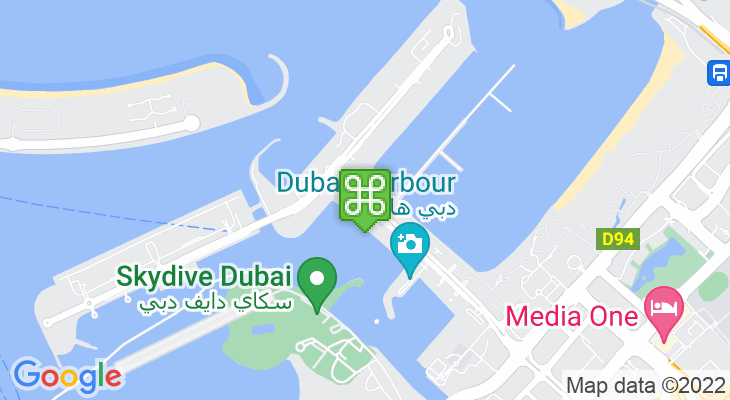 Map showing location of Dubai International Boat Show 2020