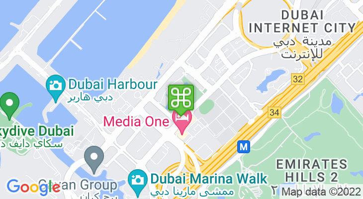 Map showing location of Taste of Dubai 2020
