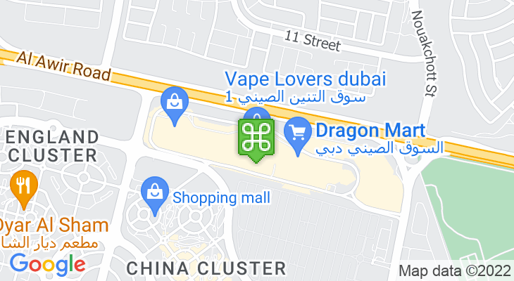 Map showing location of Dragon Mart