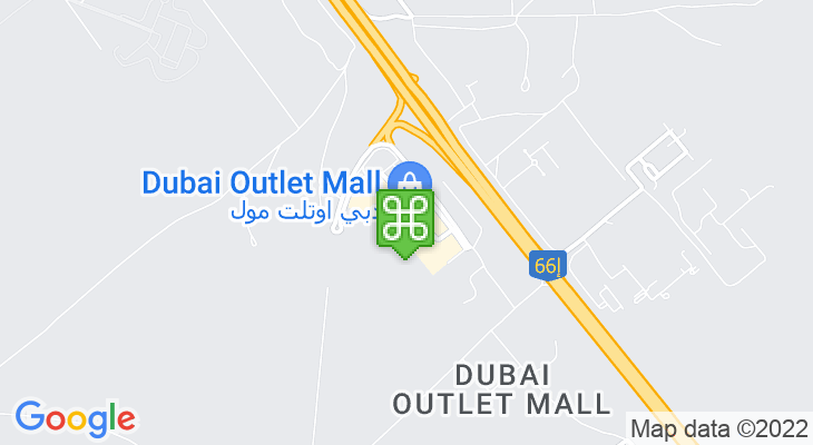 Map showing location of Dubai Outlet Mall