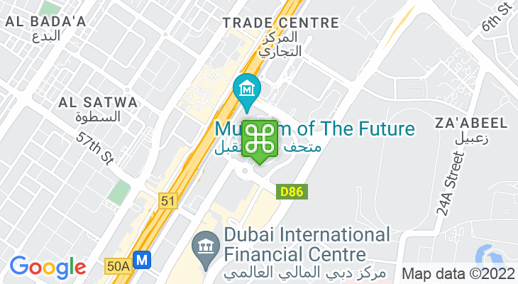 Map showing location of Emirates Towers Boulevard