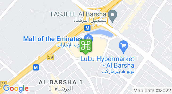 Map showing location of Mall of the Emirates