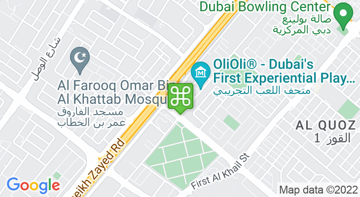 Map showing location of Oasis Mall