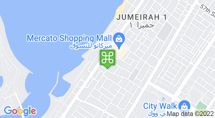 Map showing location of Town Centre Jumeirah
