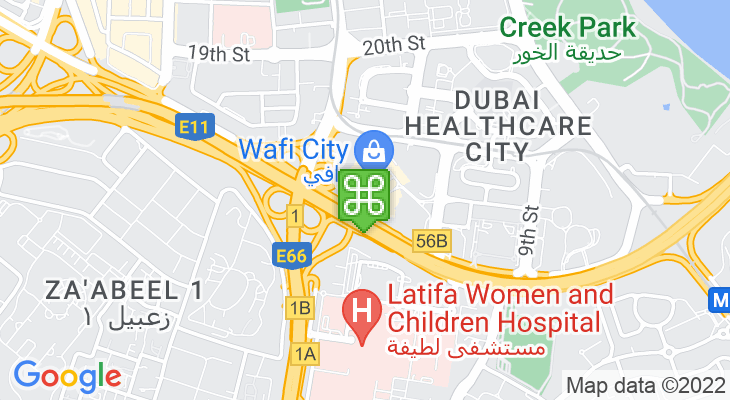 Map showing location of Wafi Mall