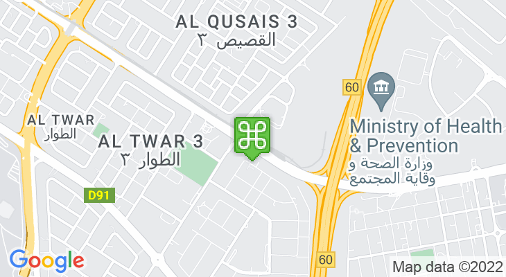 Map showing location of Etisalat Metro Station
