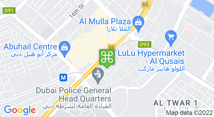 Map showing location of Al Qiyadah Metro Station