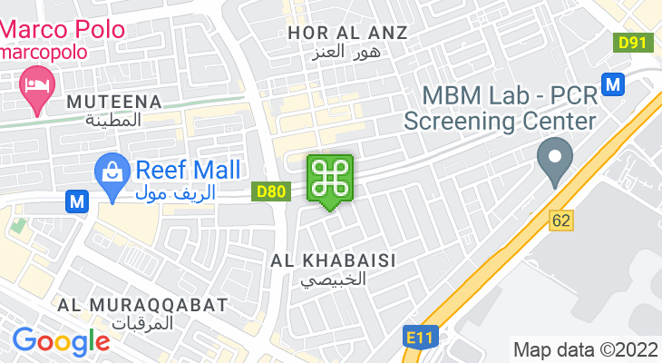 Map showing location of Abu Baker Al Siddique Metro Station