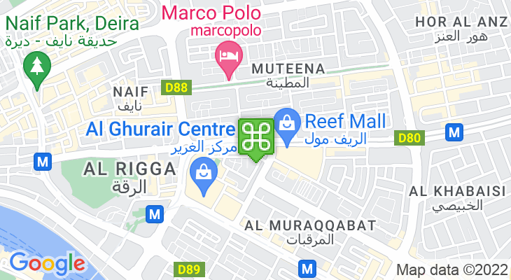 Map showing location of Salah Al Din Metro Station