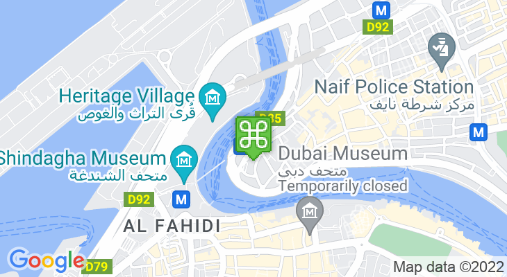 Map showing location of Al Ras Metro Station