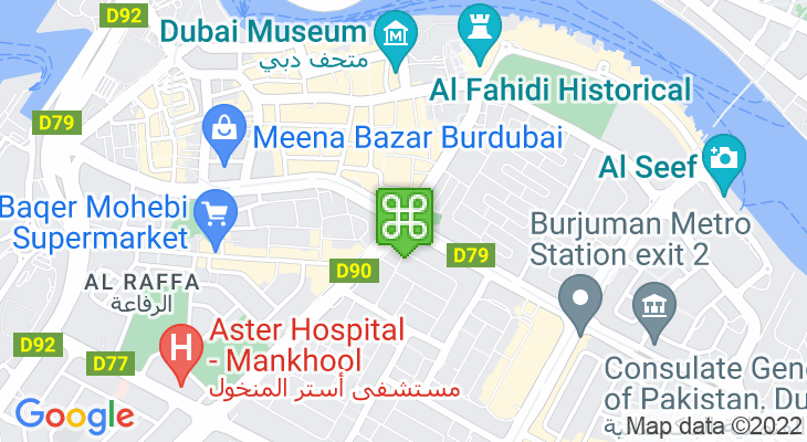 Map showing location of Sharaf DG Metro Station
