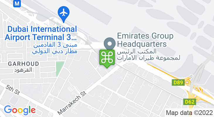 Map showing location of Emirates Metro Station