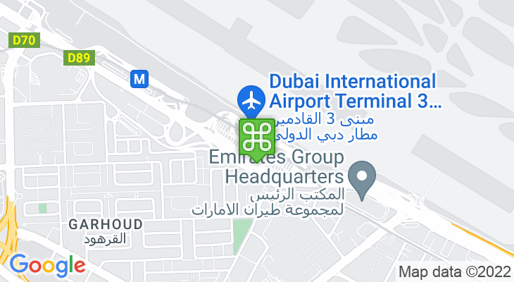 Map showing location of Airport Terminal 3 Metro Station