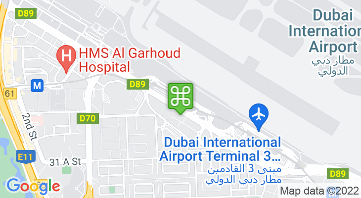 Map showing location of Airport Terminal 1 Metro Station