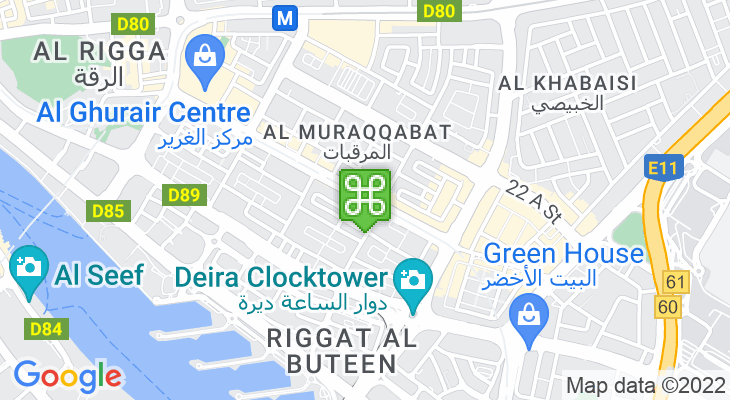 Map showing location of Al Rigga Metro Station