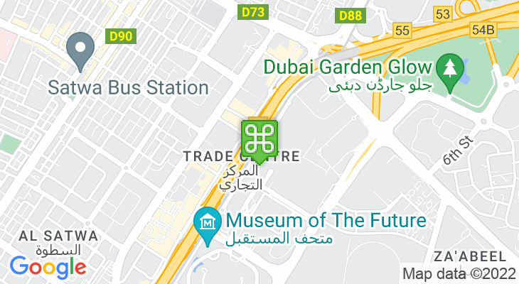 Map showing location of World Trade Centre Metro Station