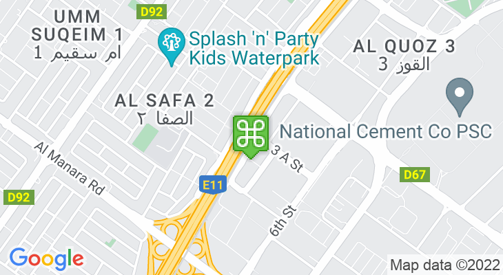Map showing location of Noor Bank Metro Station