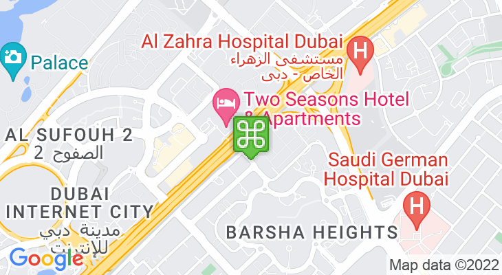 Map showing location of Dubai Internet City Metro Station