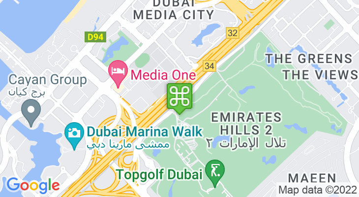 Map showing location of Nakheel Metro Station