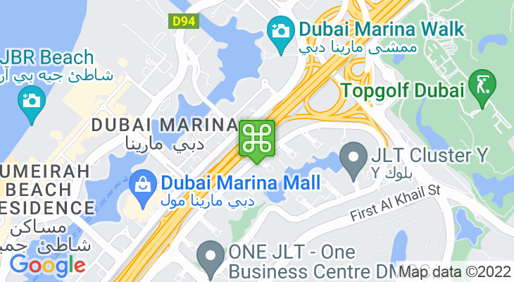 Map showing location of Dubai Marina Metro Station