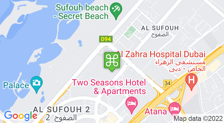 Map showing location of Dubai College