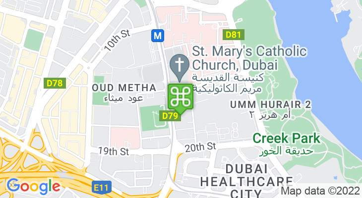 Map showing location of Dubai English Speaking School