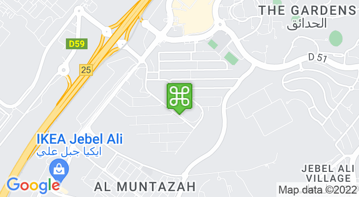 Map showing location of Jebel Ali Primary School