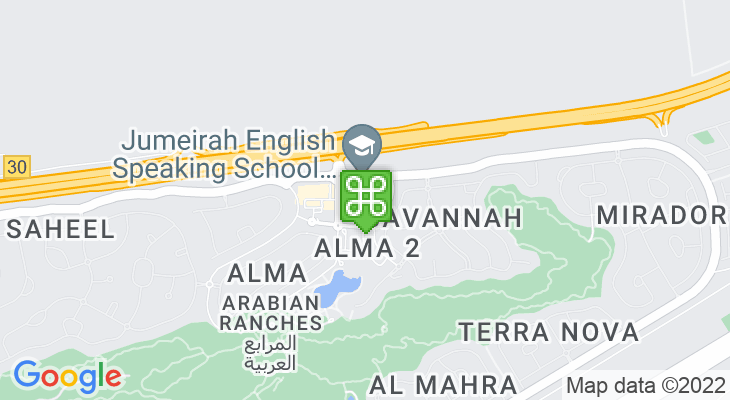 Map showing location of Jumeirah English Speaking School – Arabian Ranches