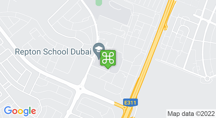 Map showing location of Repton School Dubai