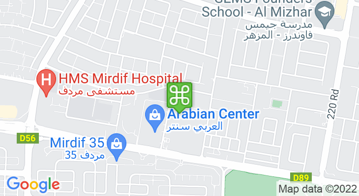 Map showing location of GEMS Royal School Dubai