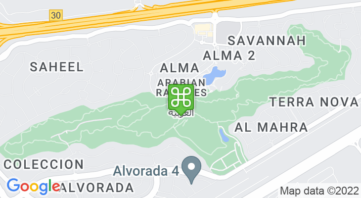 Map showing location of Arabian Ranches Golf Club